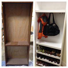 Amazing Organize Garage Diy &Organize Garage Stuff DIY Shoe Storage for Small Spaces Diy Organizer, Diy Organization, Organizing, Mudroom Organizer, Mudroom Shelf, Organization Station, Shoe Rack For Small Spaces, Small Space Storage, Diy Shoe Storage