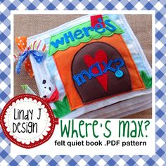 Where's Max FELT Quiet BOOK .PDF Pattern di LindyJDesign su Etsy