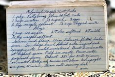 Step back in time with this vintage Colonial Maple Nut Cake recipe. Read this recipe card's history and view other recipes at the Vintage Recipe Project Retro Recipes, Old Recipes, Vintage Recipes, Other Recipes, Cake Recipes, Dessert Recipes, Cooking Recipes, Best Cookbooks, Vintage Cookbooks
