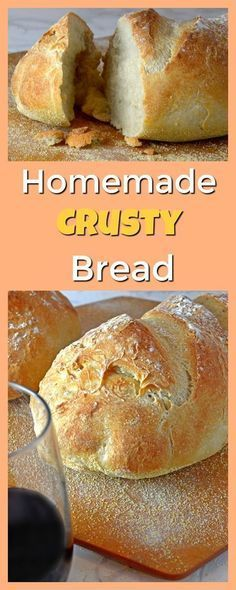 This Homemade Crusty Bread is easy enough for a novice to make and so delicious that family and guests alike will be impressed!