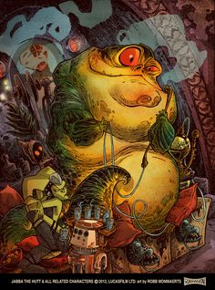 Jabba The Hutt by RobbVision on deviantART. Please take a moment to click this image and visit the artist's DeviantArt page to comment directly with the artist and see more of their works.
