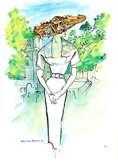 Christian Dior, Illustration By Bernard  Blossac
