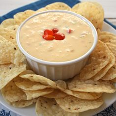 Homemade queso.