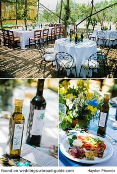 Agriturismo, Amalfi Coast - summer flowers  & personalised Olive Oil to accompany the amazing selection of food grown and prepared on the farm - Felicity & Trent's wedding in Italy | weddingsabroadguide.com
