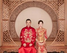 Chinese couple Tang Yan and Luo Jin married in Guo Pei Chinese Marriage, Chinese Bride, Chinese Gown, Chinese Wedding Decor, Traditional Chinese Wedding, Tiffany Tang Luo Jin, Princess Weiyoung, O Drama, Groom Wear