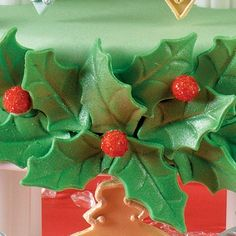 How to - Fondant Holly