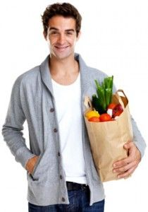 Healthy Man Holding a Grocery Bag