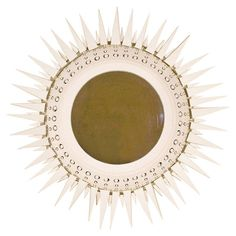 Ceramic Sunburst Mirror by Georges Pelletier, circa 1970, France | From a unique collection of antique and modern sunburst mirrors at https://www.1stdibs.com/furniture/mirrors/sunburst-mirrors/