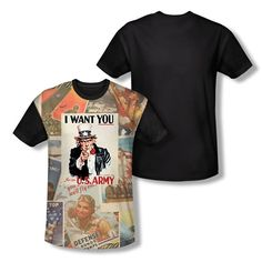 Army Vintage Poster Adult All Over Print 100/% Poly T-Shirt