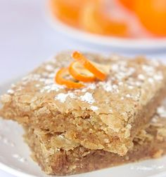 White chocolate orange blondies..and LOTS of other vegan/gluten free desserts