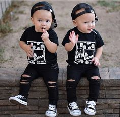 Black Distressed Skinny Jeans for Babies and Toddlers by FarmFreshDenim