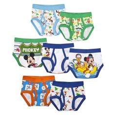 7 Pack Underwear, Little Boys' Mickey Mouse by Handcraft
