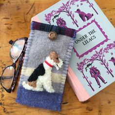 :-) Wire Fox Terrier Dog Eyelgass / Sunglasses Case by Leafpeople (His/Her smile makes me smile! :-))