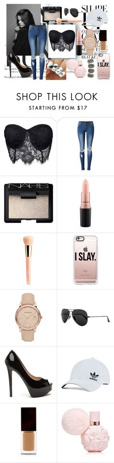 """""""Liked Items"""" by oliviaboston on Polyvore featuring WithChic, NARS Cosmetics, MAC Cosmetics, Guerlain, Casetify, Burberry, Ray-Ban, adidas Originals and Serge Lutens Beauté"""