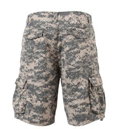 Rothco Vintage ACU Digital Infantry Shorts Cotton Cool casual shorts with military styling Rugged, heavyweight cotton for comfort Drawstring waist and legs Six pockets Camo Shorts, Khaki Shorts, Casual Shorts, Military Shorts, Camo Men, Camo Outfits, Digital Camo, Military Fashion, Military Apparel