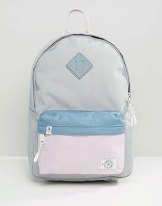 Parkland Bayside Hopscotch Backpack | Pale Blue, Denim Blue, Pale Pink | ASOS
