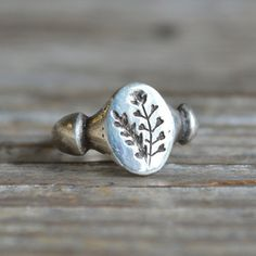 SIZE 6.5, SILVER, Often times our most wonderful discoveries are merely the recognition of what is before us – and in this case under foot! Our botanical jewelry