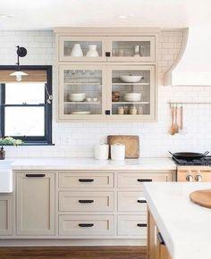 Home Interior Modern .Home Interior Modern Kitchen Ikea, Diy Kitchen Cabinets, Home Decor Kitchen, Home Kitchens, Kitchen Counters, Small Kitchens, Dream Kitchens, Kitchen Islands, Light Grey Cabinets Kitchen