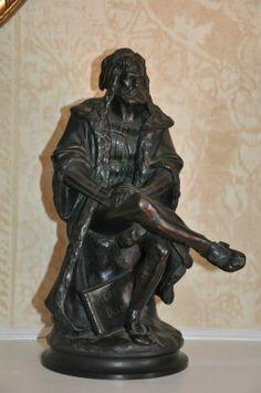 Albert E. Carrier Belleuse Bronze of Albert Durer