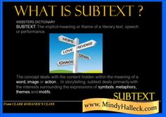 SUBTEXT–THE #STORY WITHIN Visual #Storytelling  http://wp.me/p3eEC9-le    #amwriting #writingtips #writing @PNWA