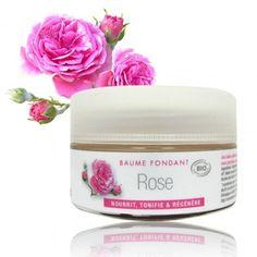 Baume fondant BIO au Karité et à la Rose. Aux huiles subtiles de Rose de Damas et de Rose musquée, réputées pour leurs propriétés réparatrices, restructurantes et régénérantes, ce baume offre à votre peau une véritable cure de jouvence.