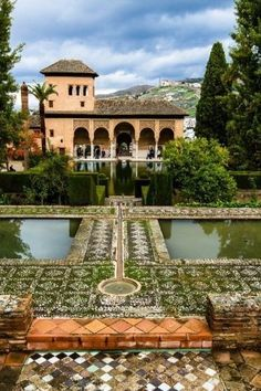Jardines de Alhambra, Granada - España