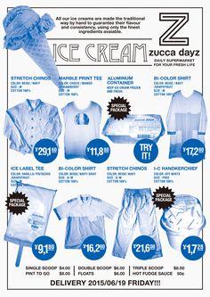 zucca dayz_ICE CREAM_poster2015art direction+graphic design:Rikako Nagashimagraphic design:Aiko Koikephoto:Aiko Koike
