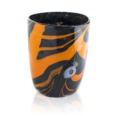 Black and orange #artistic glass. Murrine, macie, #avventurine and #polychrome glass #rods. #Carnival #Plus collection.