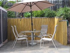 Guide to privacy fence ideas including popular types, cost & styles. See pictures of wood, vinyl, bamboo, metal & DIY fence designs. Bamboo Panels, Bamboo Wall, Fence Panels, Buy Bamboo, Bamboo Privacy Fence, Privacy Fences, Privacy Screens, Diy Design, Design Ideas