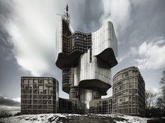 """MoMA Spotlights Yugoslavian Modernist Architecture in """"Toward a Concrete Utopia"""": Magnificent brutalist structures. Architecture Design, Concrete Architecture, Minecraft Architecture, Architecture Tattoo, Brutalist Buildings, Modern Buildings, Moma, Antigua Yugoslavia, Ex Yougoslavie"""