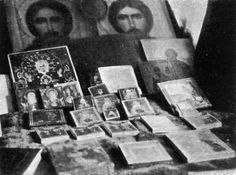 JULY 17, 1918 ~ the icons that belong to Nikolay II's family found after the assassination in The Ipatiev House