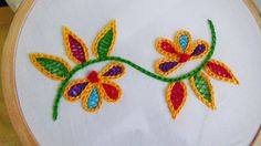 Hand Embroidery: Wine stitch - YouTube
