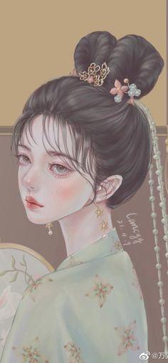 Couple Art, Bambi, Love Art, Aesthetic Anime, Art Girl, Cute Girls, Fantasy Art, Art Prints, Wallpaper