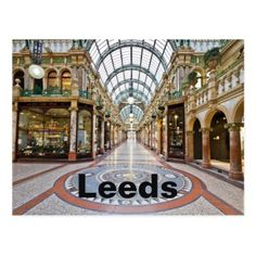 Leeds travel photo postcard - photo gifts cyo photos personalize