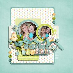 sweet scrapbook page layout