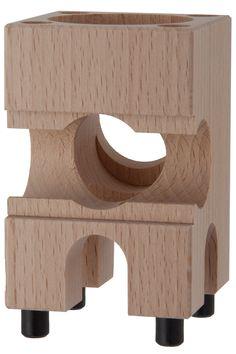 Der Klangklotz ist eines der wichtigsten Elemente des Xyloba Kugelbahnsystems, da die Klangplatten in die Klangklötze eingeschoben werden.