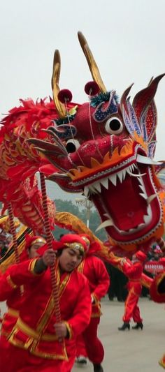 Dragon dance in Beijing, China