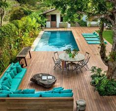 Garden pool - garden design with swimming pool-Gartenpool – Gartengestaltung mit Swimmingpool Garden pool – garden design with swimming pool -