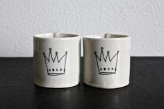2 mini cups.. $48,00, via Etsy.