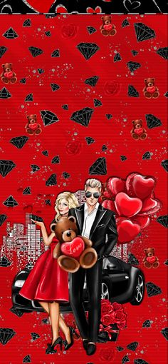 Love in the City (Wallpapers) Valentine Wallpaper, City Wallpaper, Iphone Wallpapers, Marriage, Android, Walls, Girly, Valentines, Love
