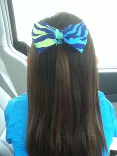 Cute zebra print bow