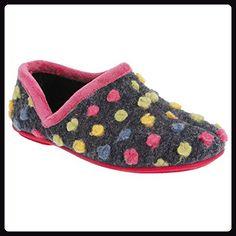 Sleepers Damen Jade Hausschuhe / Pantoffeln, gepunktet (38 EUR/5 UK) (Fuchsia/Bunt) - Hausschuhe für frauen (*Partner-Link)