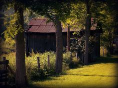 Charming barn surrounded by country beauty.  Pennsylvania~ by TammieDunlap