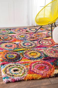 Rugs USA Multi Radiance Abstract Circles Rug