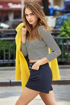 Cara Delevingne for Tiendas Paris Cencosud Campaign, June 2015 … Delevigne Cara, Cara Delevingne Style, Cara Delevingne Photoshoot, Look Fashion, Trendy Fashion, Fashion Models, Fashion Beauty, Modelos Fashion, Look Street Style