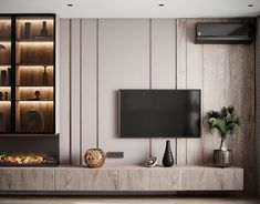 Living Room Interior, Home Living Room, Living Room Decor, Tv Wall Design, House Design, Modern Tv Wall, Modern Tv Room, Living Tv, Living Room Tv Unit Designs