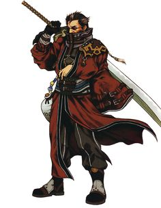 Week 10 - Final Fantasy X - Concept Art Mon - Auron - Still one of my fav characters of all time