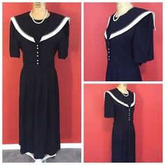Downton Abbey Great Gatsby Roaring 1920s Style Sailor Tea Party Dress Size 8   eBay