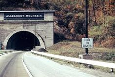 Tunnel through the Allegheny Mountains in Pennsylvania. My dad worked on the mapping of these tunnels...always heard the stories...