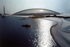 Image 8 of 10 from gallery of 2015 Pritzker Prize Winner Frei Otto's Work in 10 Images. Photograph by Atelier Frei Otto Warmbronn Kenzo Tange, Philip Johnson, Jean Nouvel, Ludwig Mies Van Der Rohe, Tadao Ando, Renzo Piano, Oscar Niemeyer, Frank Gehry, Frank Lloyd Wright